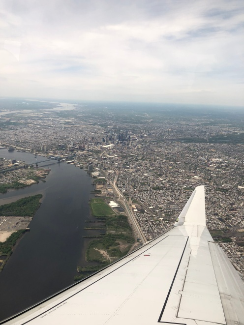 View of Philadelphia before landing