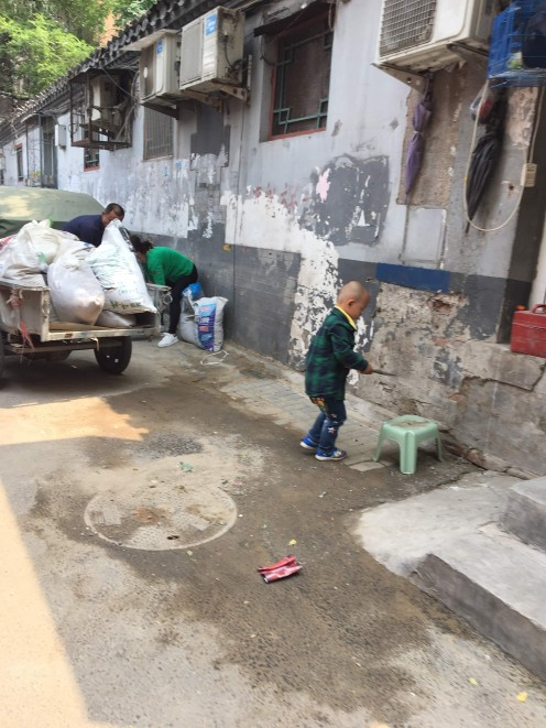 Child playing in the streets